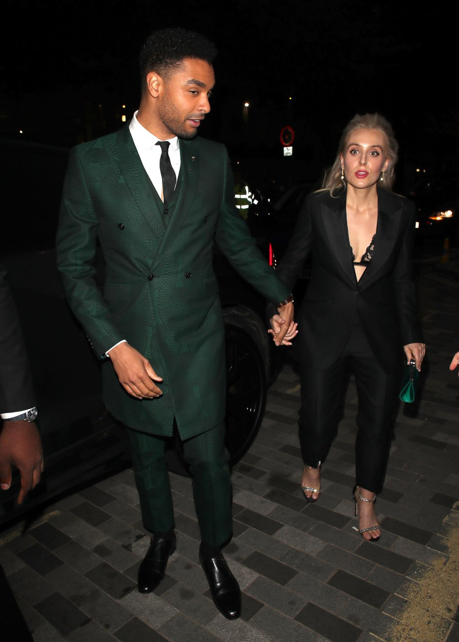Rege-Jean Page and Girlfriend Emily Brown Make Rare Appearance at 'GQ' Men of the Year in London