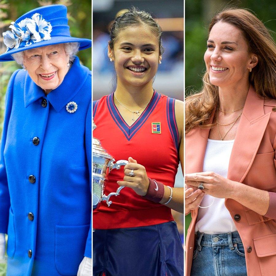 Queen Elizabeth, Duchess Kate and More Royals Congratulate Emma Raducanu After U.S. Open Win