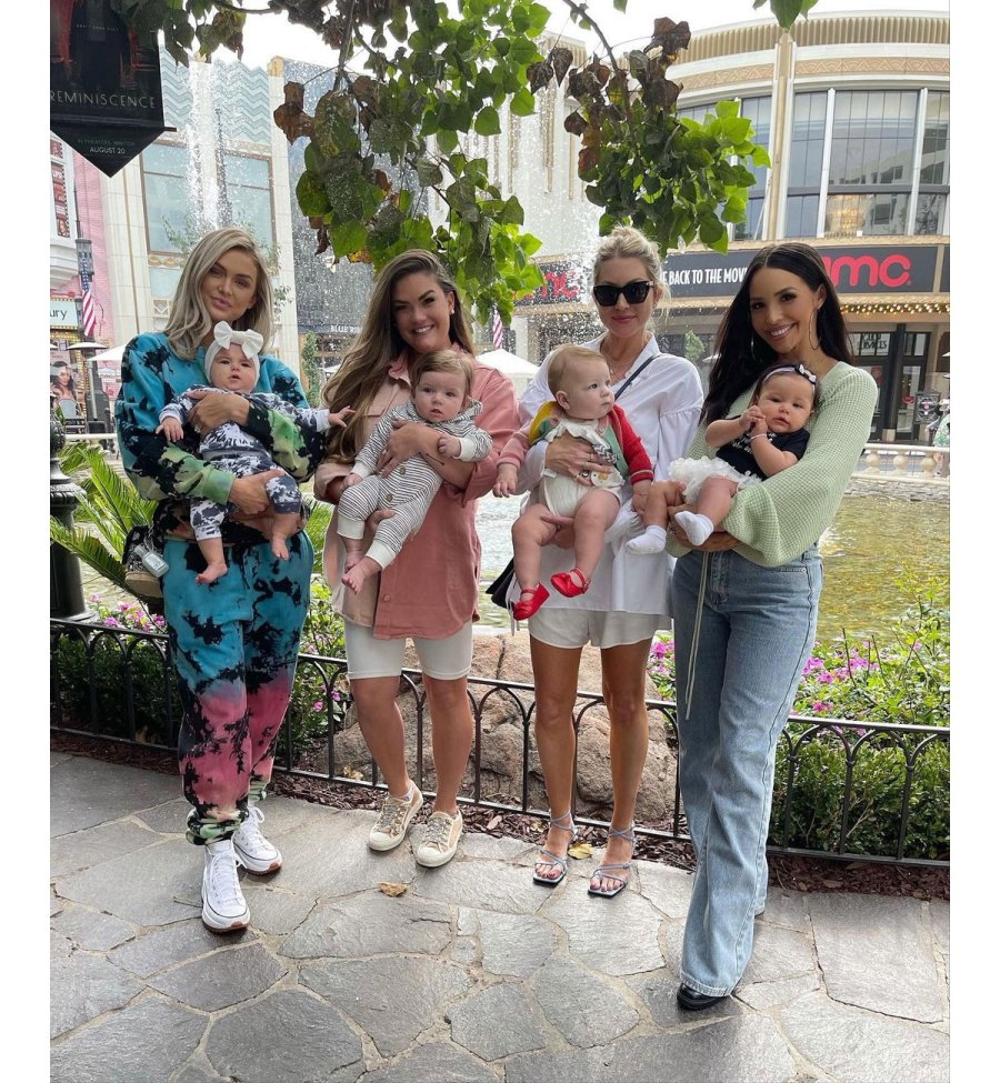 Scheana Shay Instagram 1 Lala Kent Stassi Schroeder Brittany Cartwright and Scheana Shay Reunite With 4 Babies for 1st Time