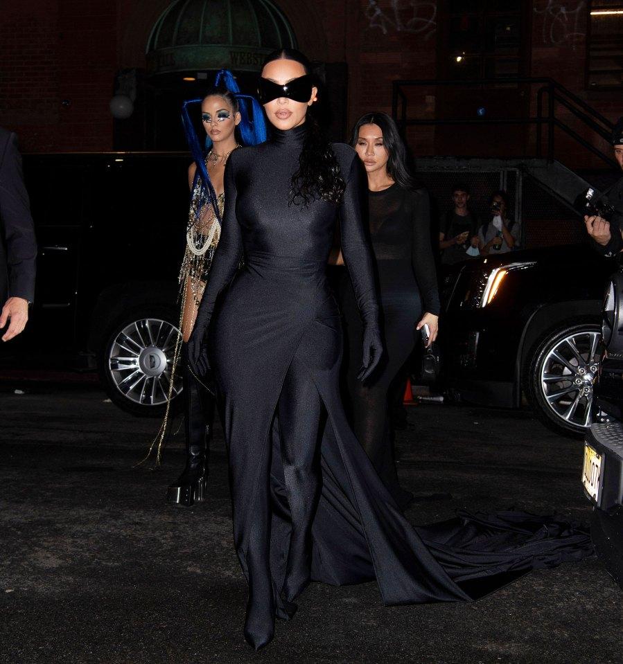 See Fabulous Fashion Stars Wore Met Gala 2021 Afterparties Kim Kardashian