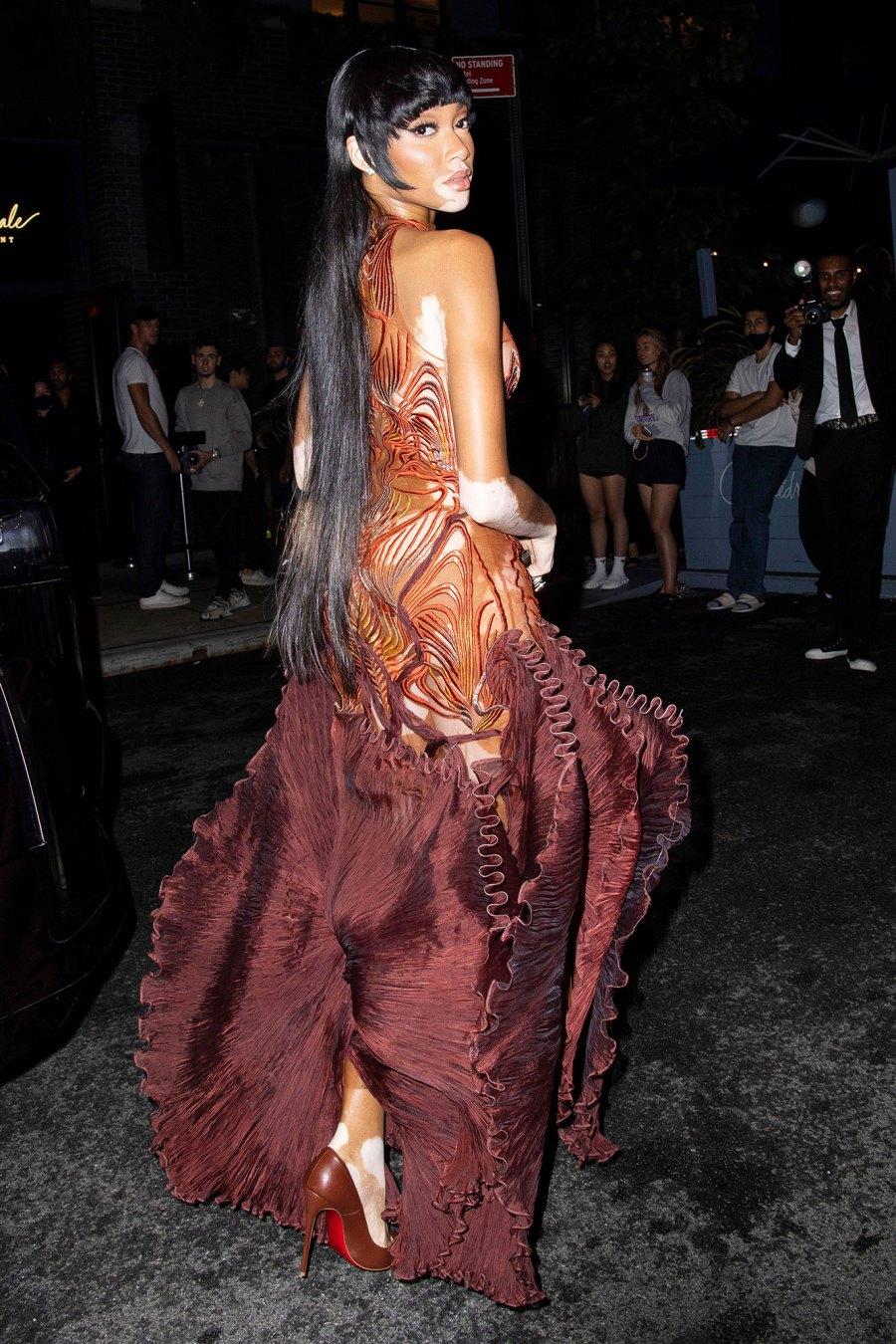 See Fabulous Fashion Stars Wore Met Gala 2021 Afterparties Winnie Harlow