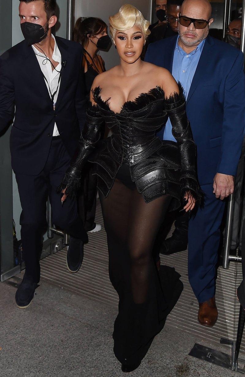 Spikes! Gold Masks! Cardi B's Paris Fashion Week Looks Are Too Good