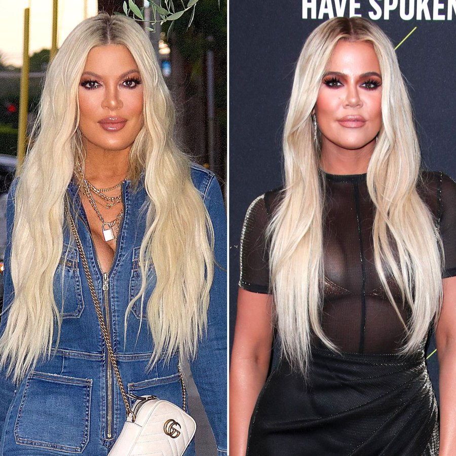 Tori Spelling Reacts to Khloe Kardashian Comparisons After Twinning Looks Go Viral
