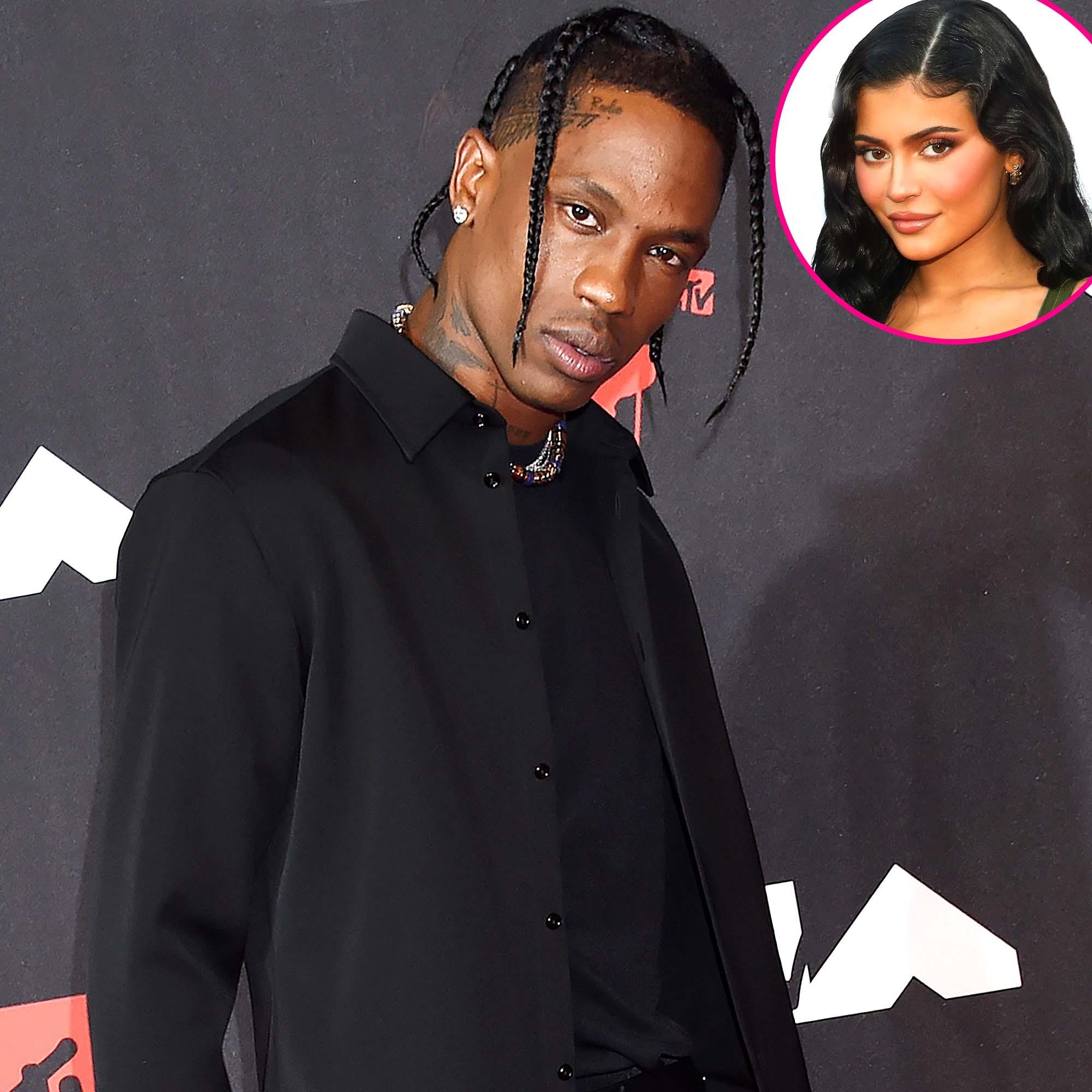 Travis Scott Attends VMAs Without Pregnant Kylie Jenner