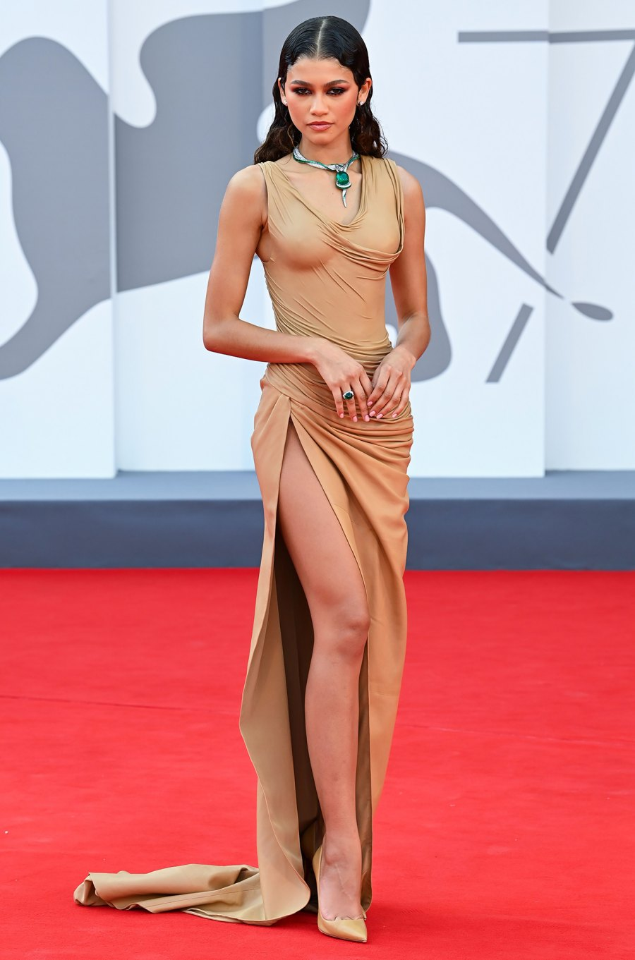 Zendaya's Balmain Gown Just Won the Venice Film Festival Red Carpet