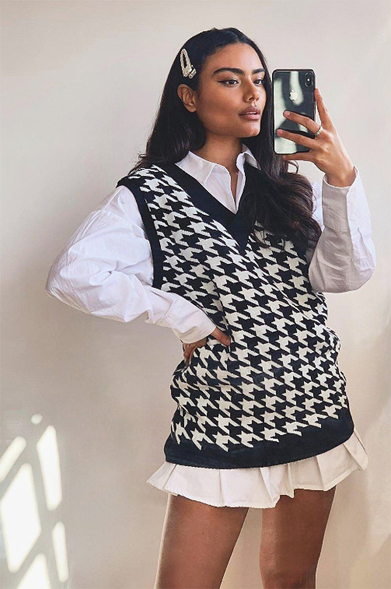 boohoo-fall-outfits-sweater-vest