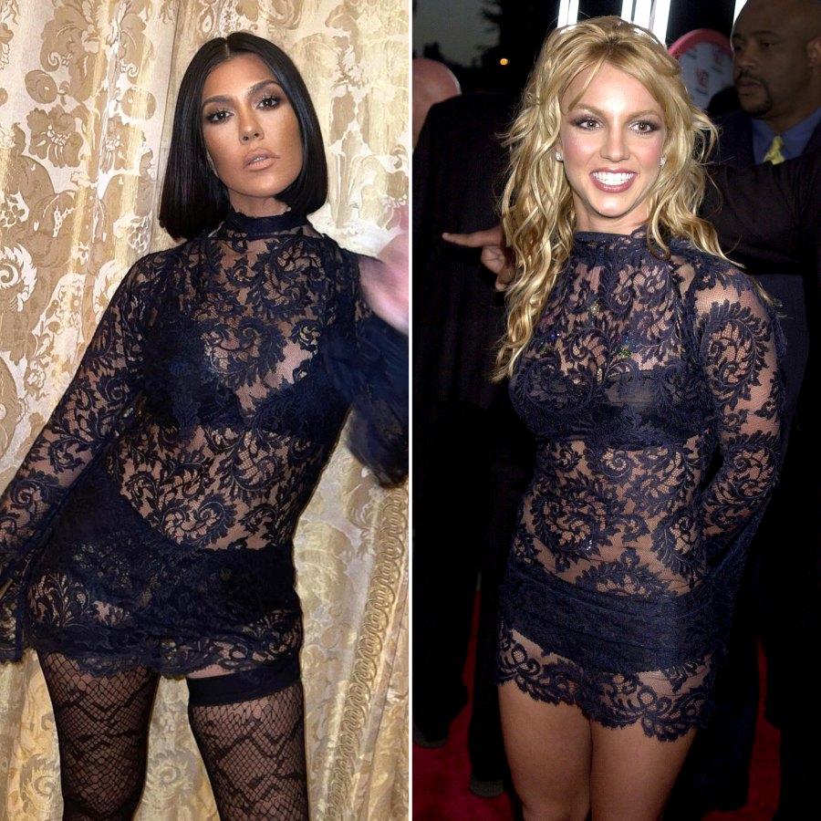 Kourtney K. Rocks Same Dolce & Gabbana Set Britney Spears Wore in 2001