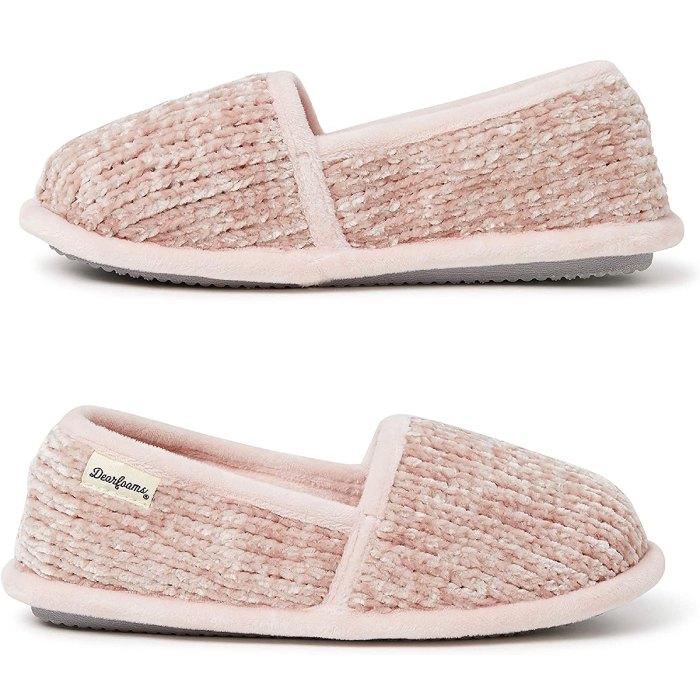 dearfoams-chenille-slippers-details