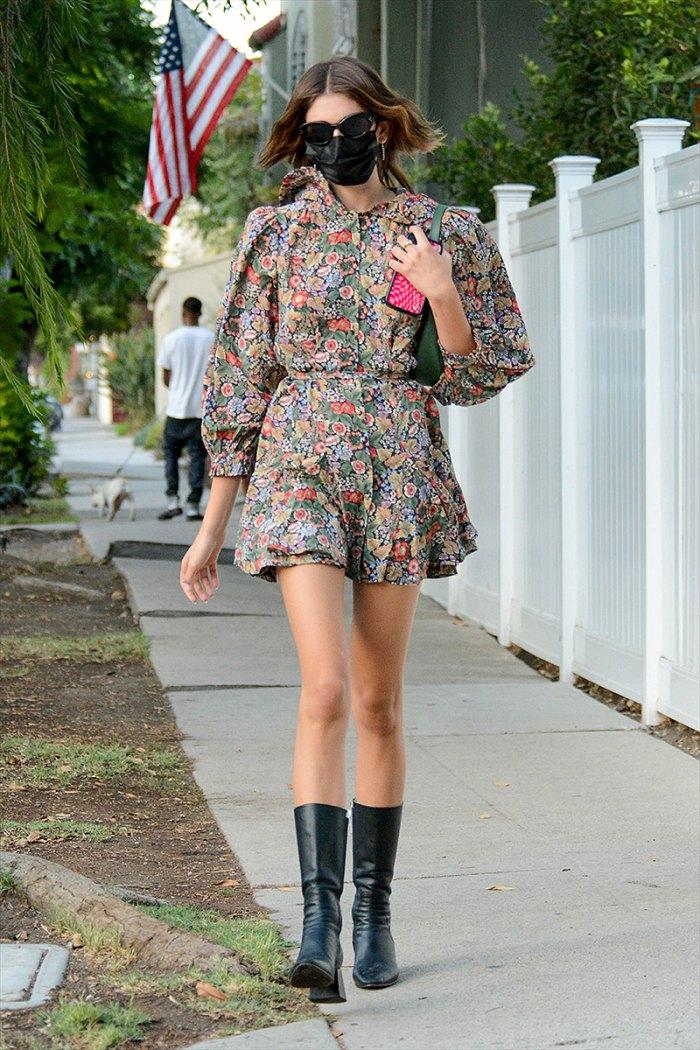 kaia-gerber-floral-dress