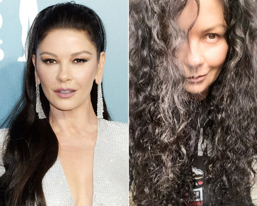 Catherine Zeta-Jones, 51, Shows Off Her Curly Hair, Makeup-Free Face
