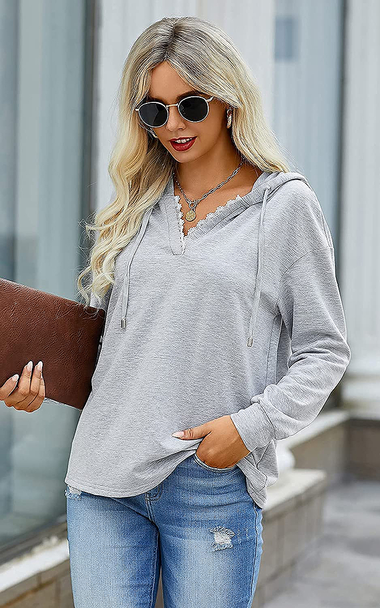 prettygarden-lace-hoodie-grey