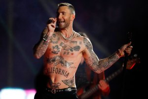 Adam Levine Dyes Hair Bright Blue Gets Butterfly Tattoo