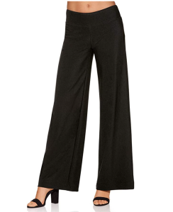 Boston Proper Women's Wrinkle-Resistant Solid Color Knit Palazzo Pant