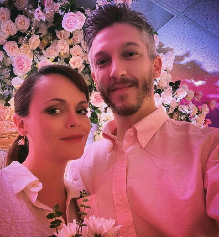 Christina Ricci and Mark Hampton share wedding photos