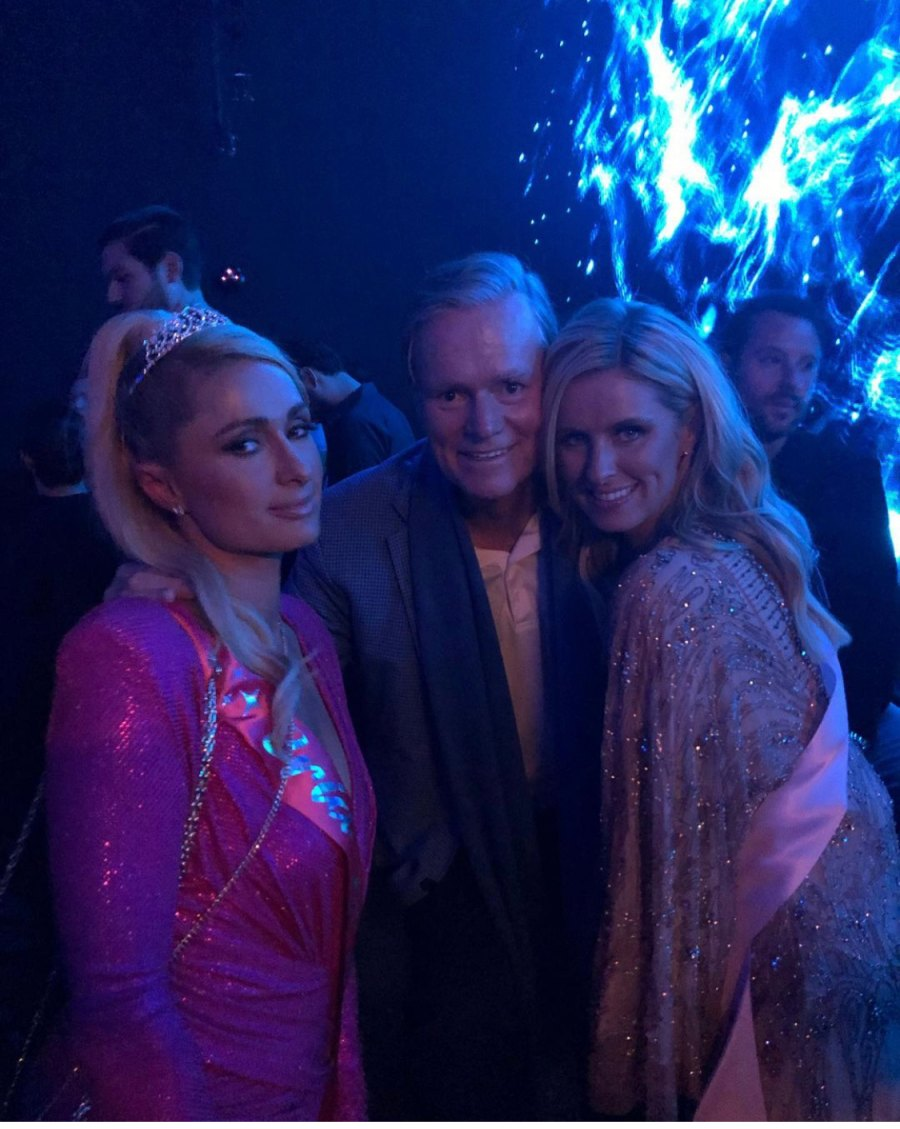Rick Hilton with daughters Paris and Nicky