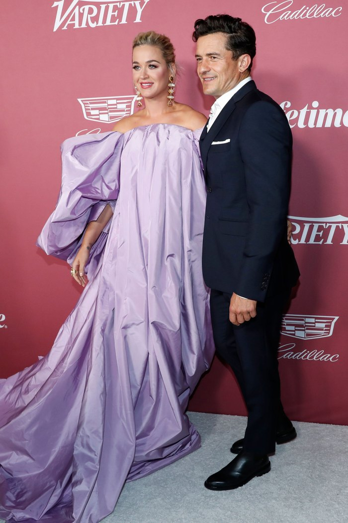 Katy Perry and Orlando Bloom at Variety's 2021 Power of Women Event.