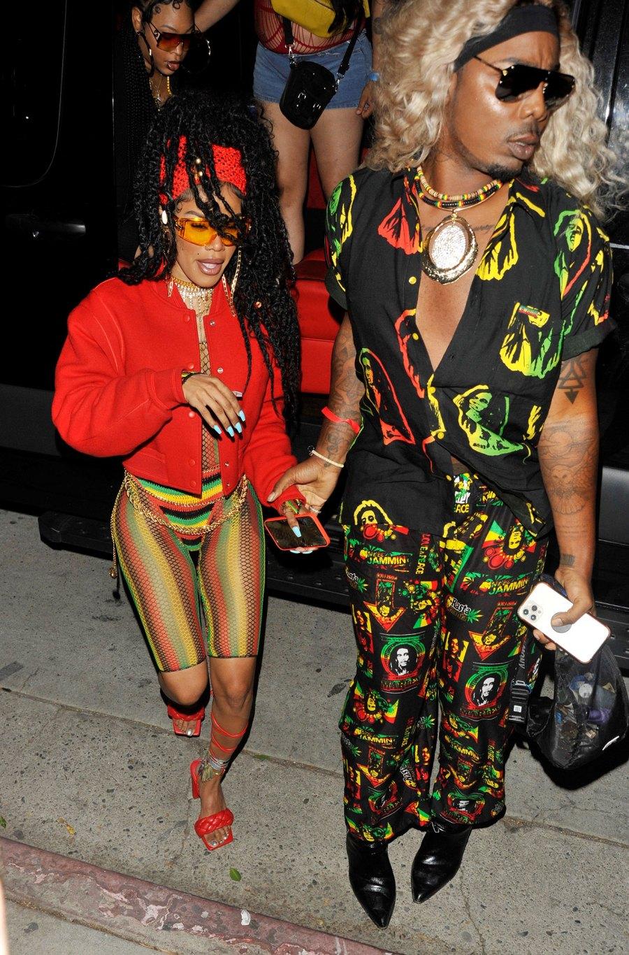 Lizzo Winnie See What Stars Wore Cardi B Wild Birthday Bash Teyana Taylor
