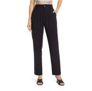 Lulus Strictly Business High Waist Taper Pants