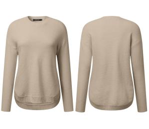 MEROKEETY Women's Long Sleeve Oversized Crew Neck Sweater