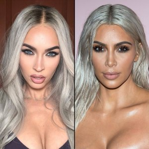 Megan Fox Debuts Icy Silver Hair — and Fans Are Convinced She Looks Like Kim Kardashian
