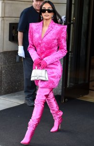 OMG! Kim K. Just Wore Color for the 1st Time Since the Met Gala