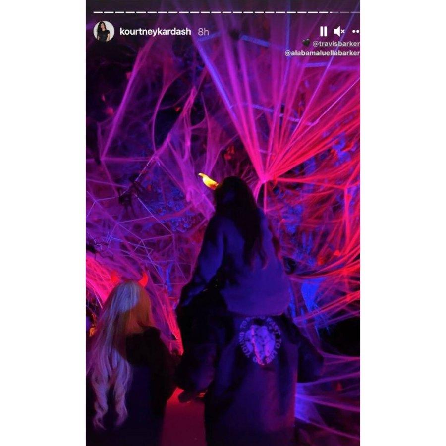 Piggy Back Kourtney Kardashian Instagram Inside the Kardashian-Jenner Kids 2021 Halloween Festivities