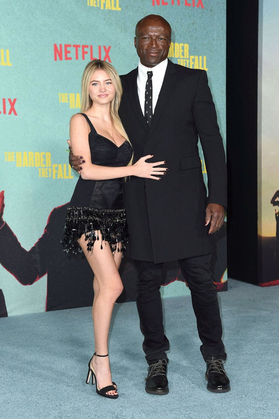 Seal and Daughter Leni Pose at The Harder They Fall Premiere 4