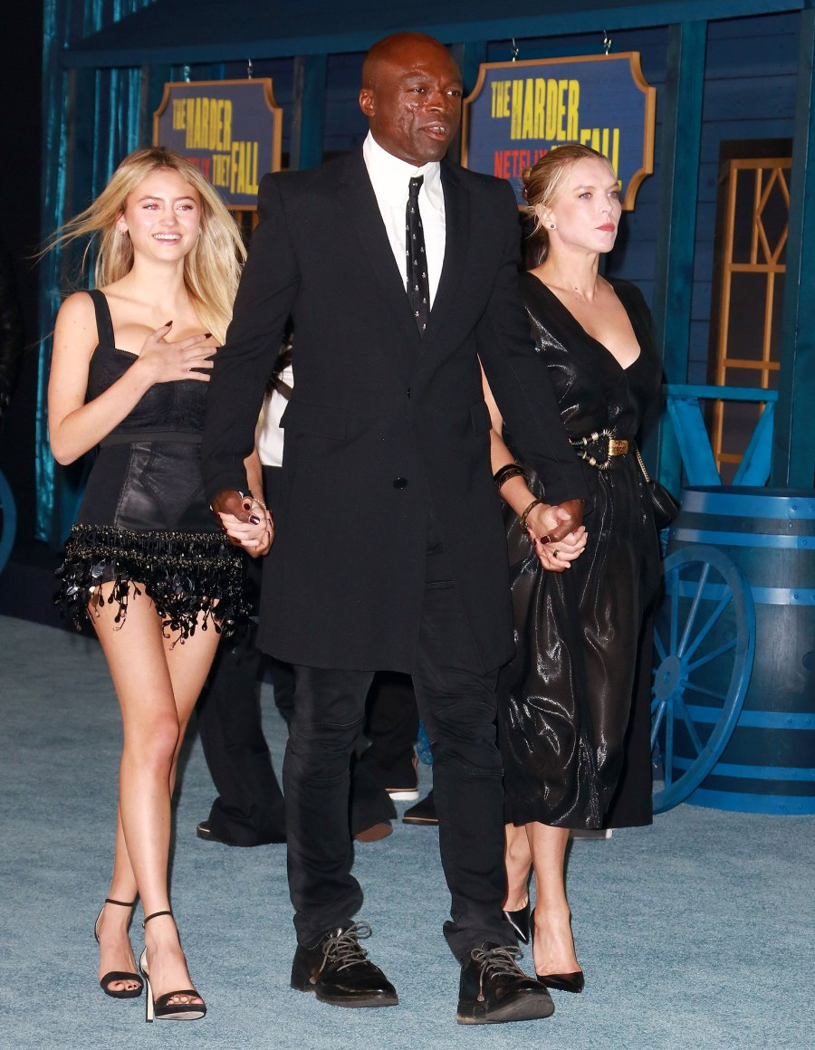 Seal and Daughter Leni Pose at The Harder They Fall Premiere 7