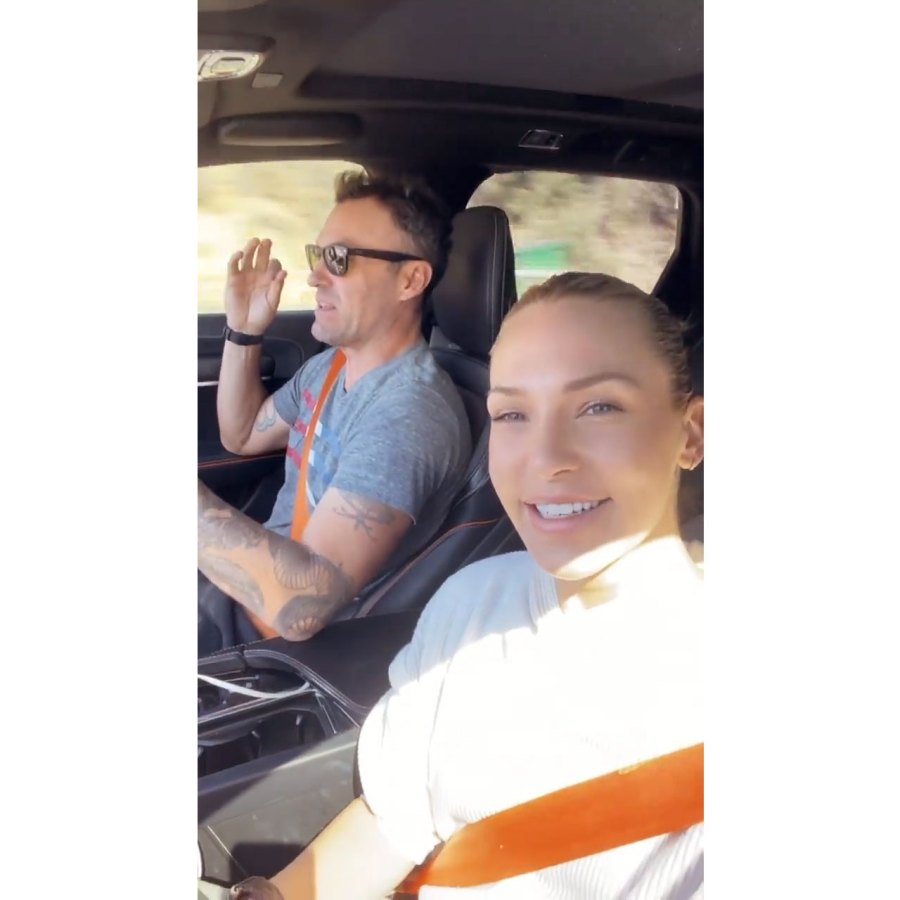 Sharna Burgess and Brian Austin Green Clarify Why They Didn't Do Post Dancing With the Stars DWTS Elimination Interviews 3