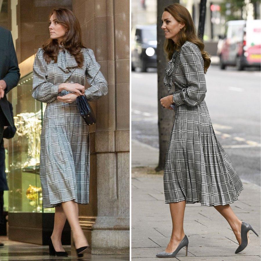 Take 2 Kate Middleton Rewears Houndstooth Print Zara Dress
