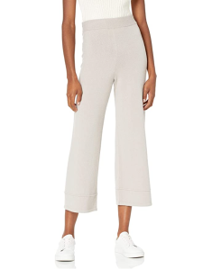 The Drop Women's Bernadette Pull-on Loose-fit Cropped Sweater Pant
