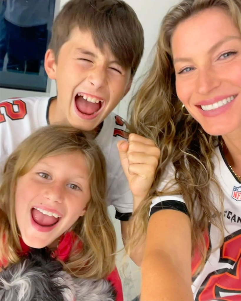 Tom Brady and Gisele Bundchen Kids Support Dad During Patriots Game 2