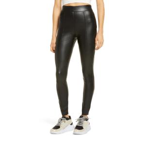 Topshop Sara Faux Leather Skinny Pants