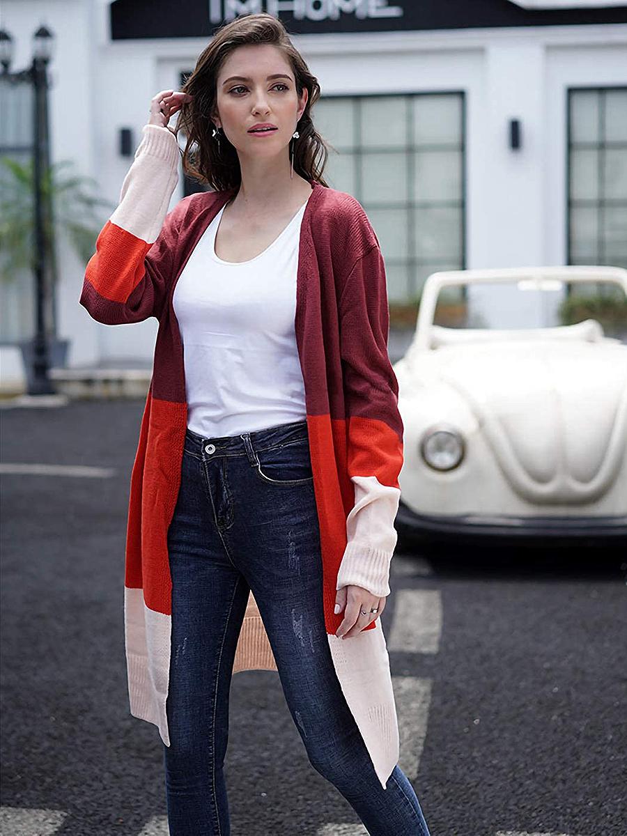 anna-kaci-color-block-cardigan-red
