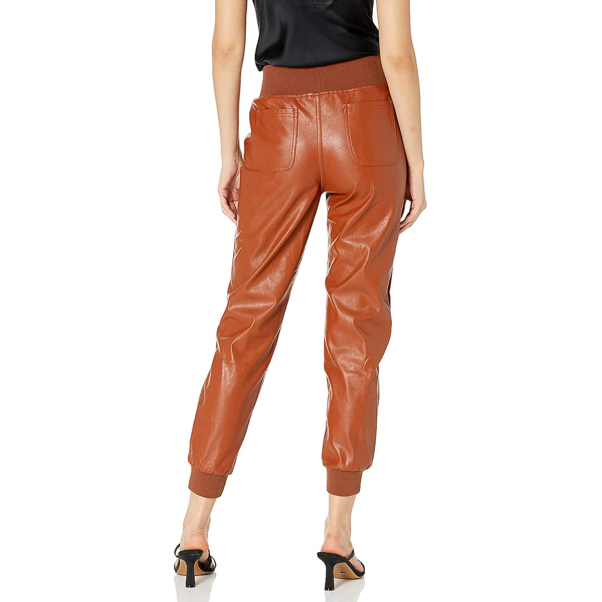 kendall-kylie-faux-leather-joggers-nutmeg