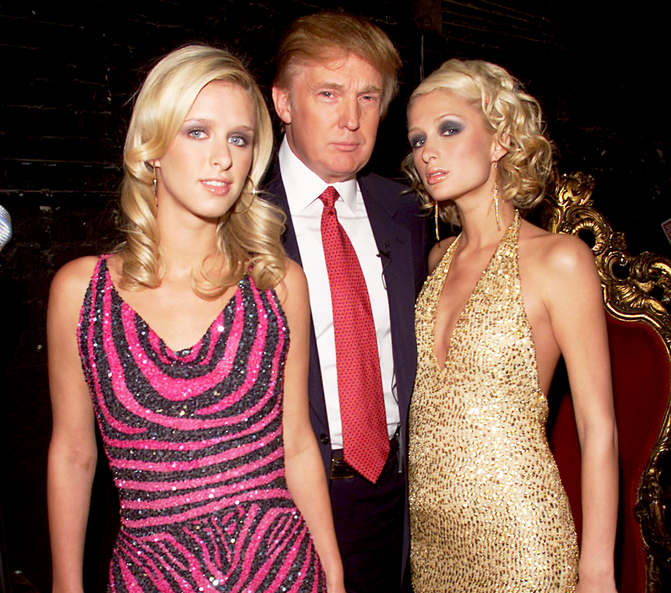 Nicky Hilton, Donald Trump and Paris Hilton