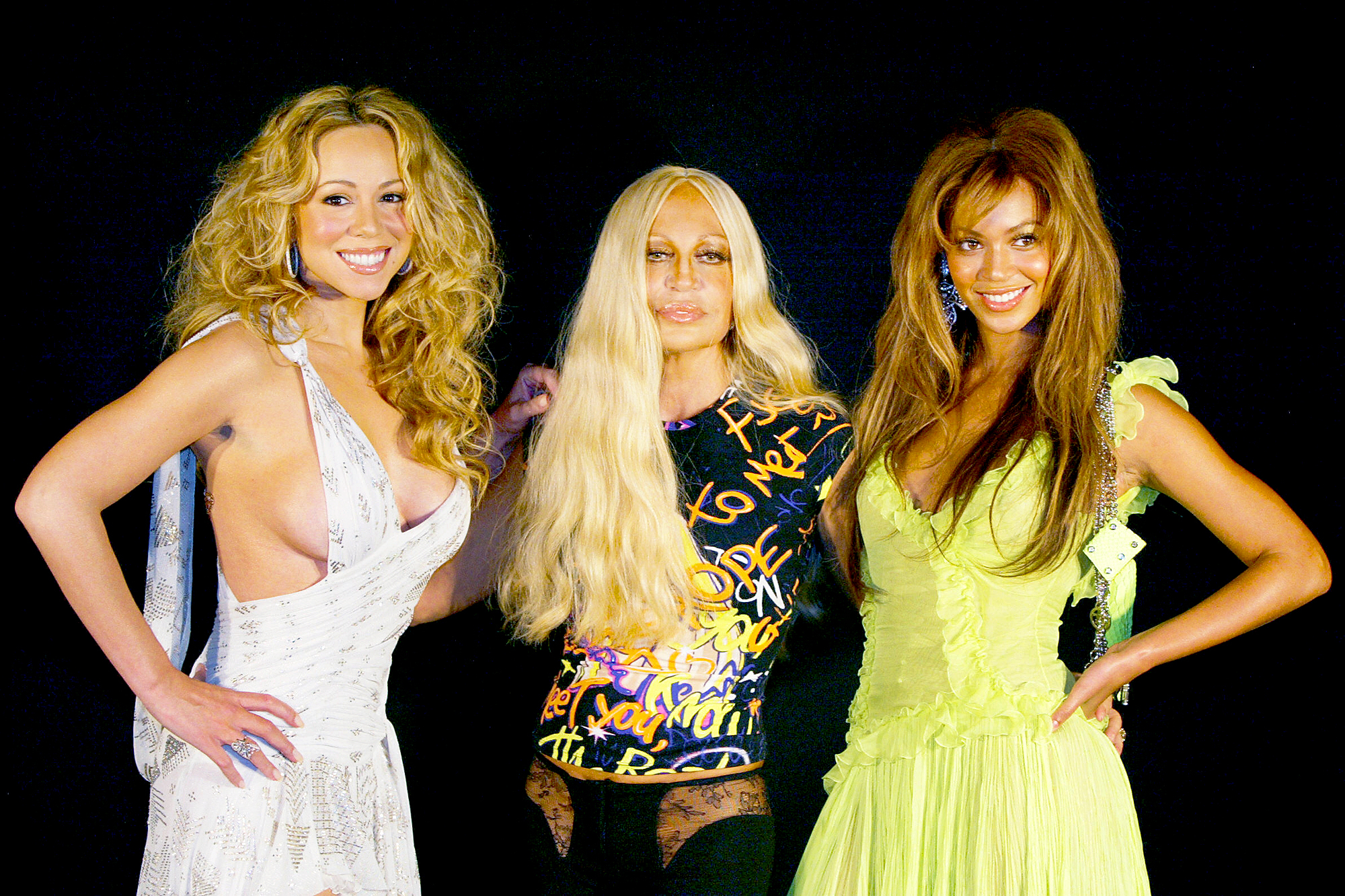Mariah Carey, Beyonce and Donatella Versace