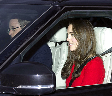 Prince William and Kate Middleton - Christmas Lunch