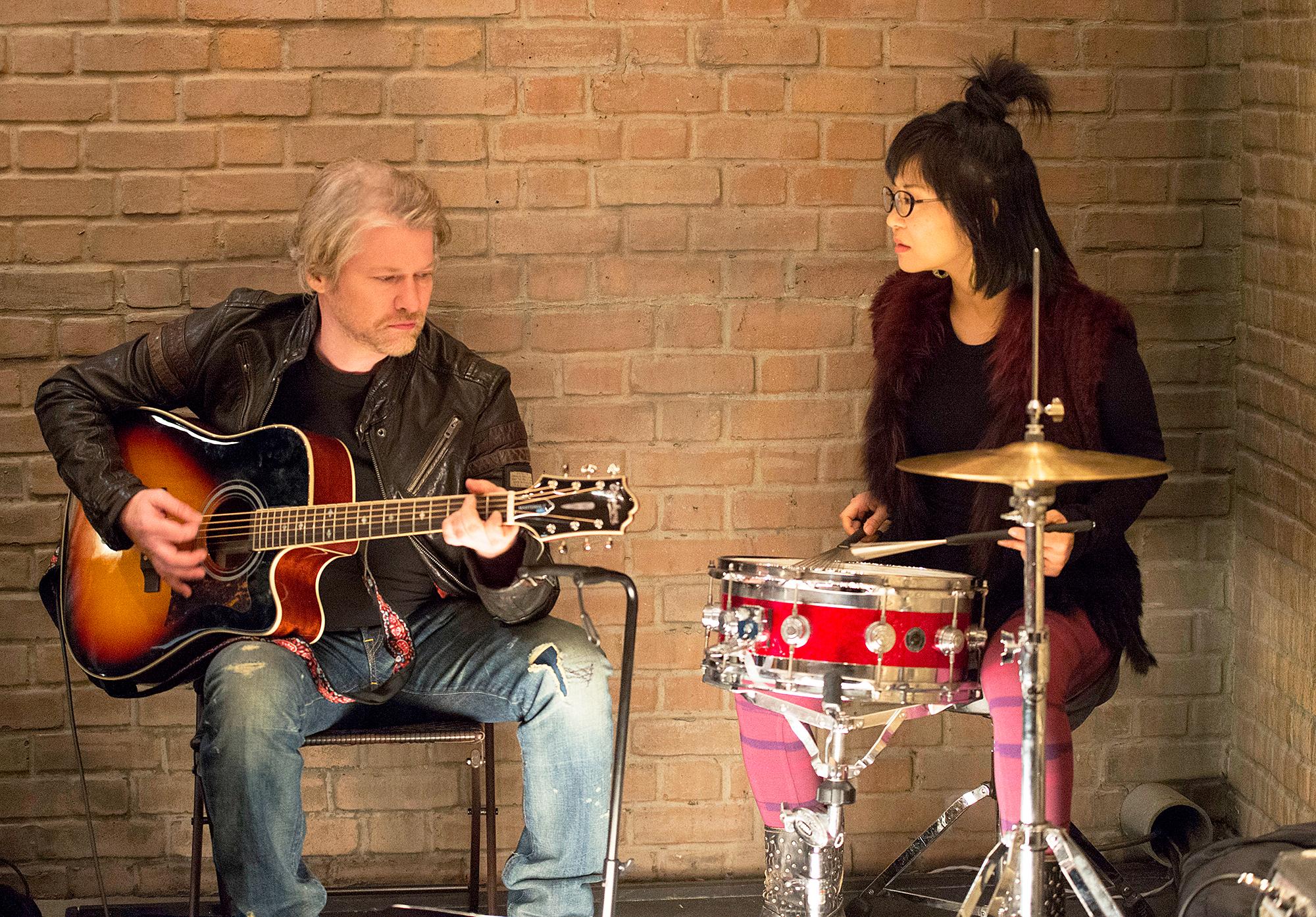 Todd Lowe and Keiko Agena
