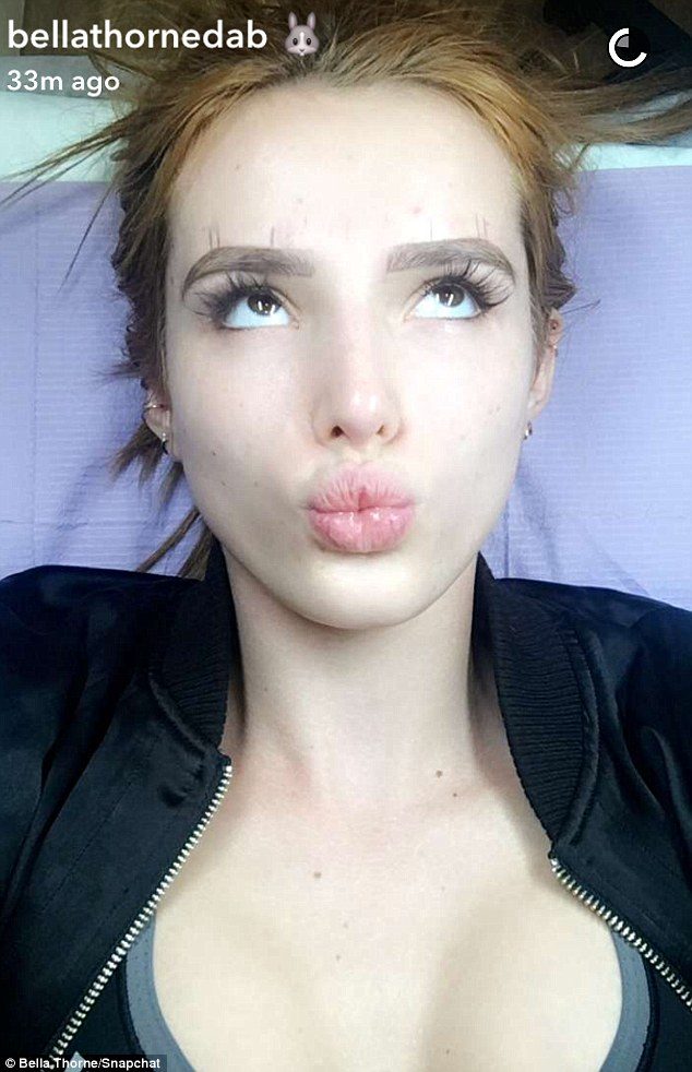 Bella Thorne Gets Her Eyebrows Tattooed: Pics