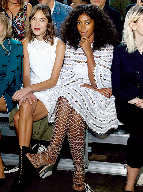 Solange Knowles - NYFW shoes