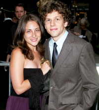Jesse Eisenberg and Anna Strout