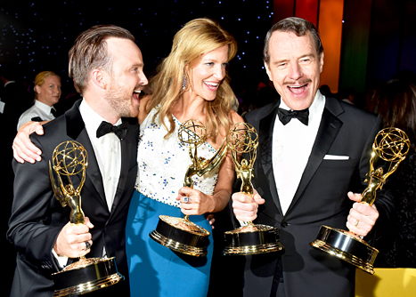 Aaron Paul, Anna Gunn and Bryan Cranston