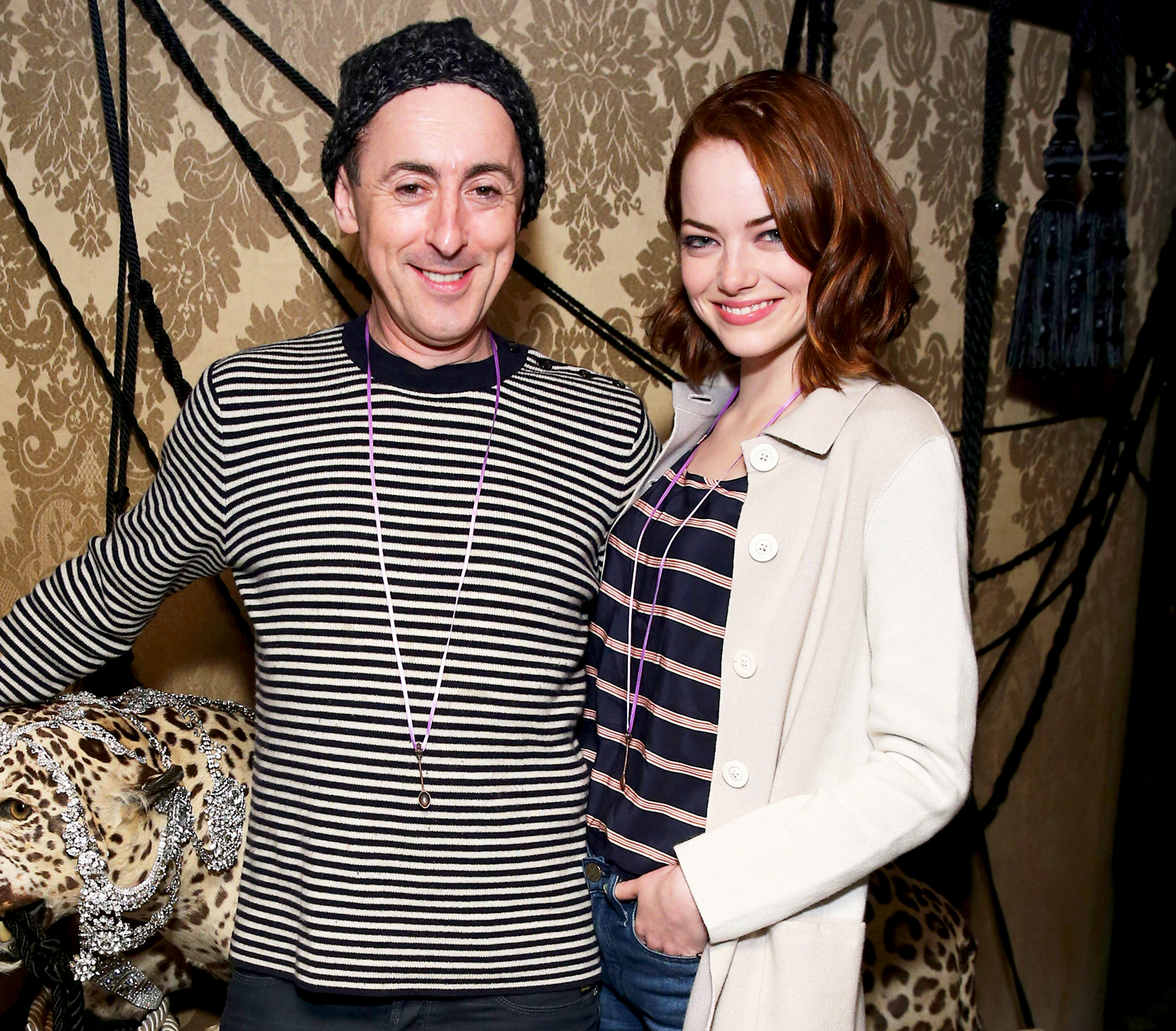Emma Stone and Alan Cumming