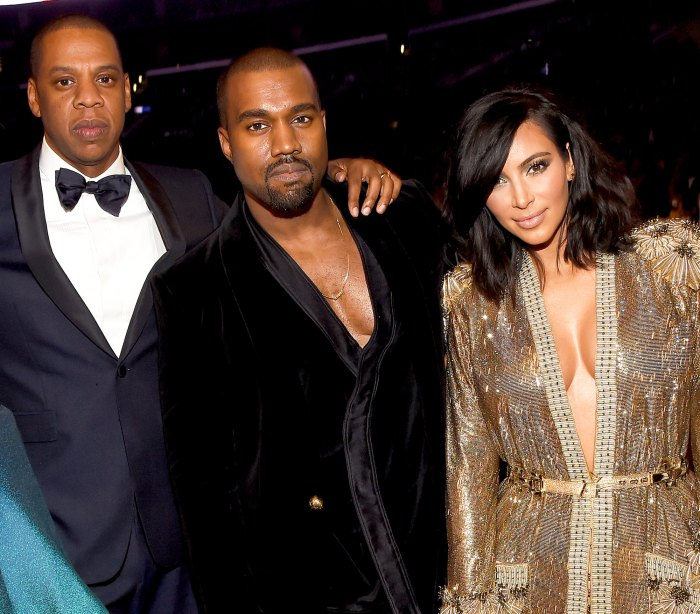 Jay Z, Kanye West and Kim Kardashian