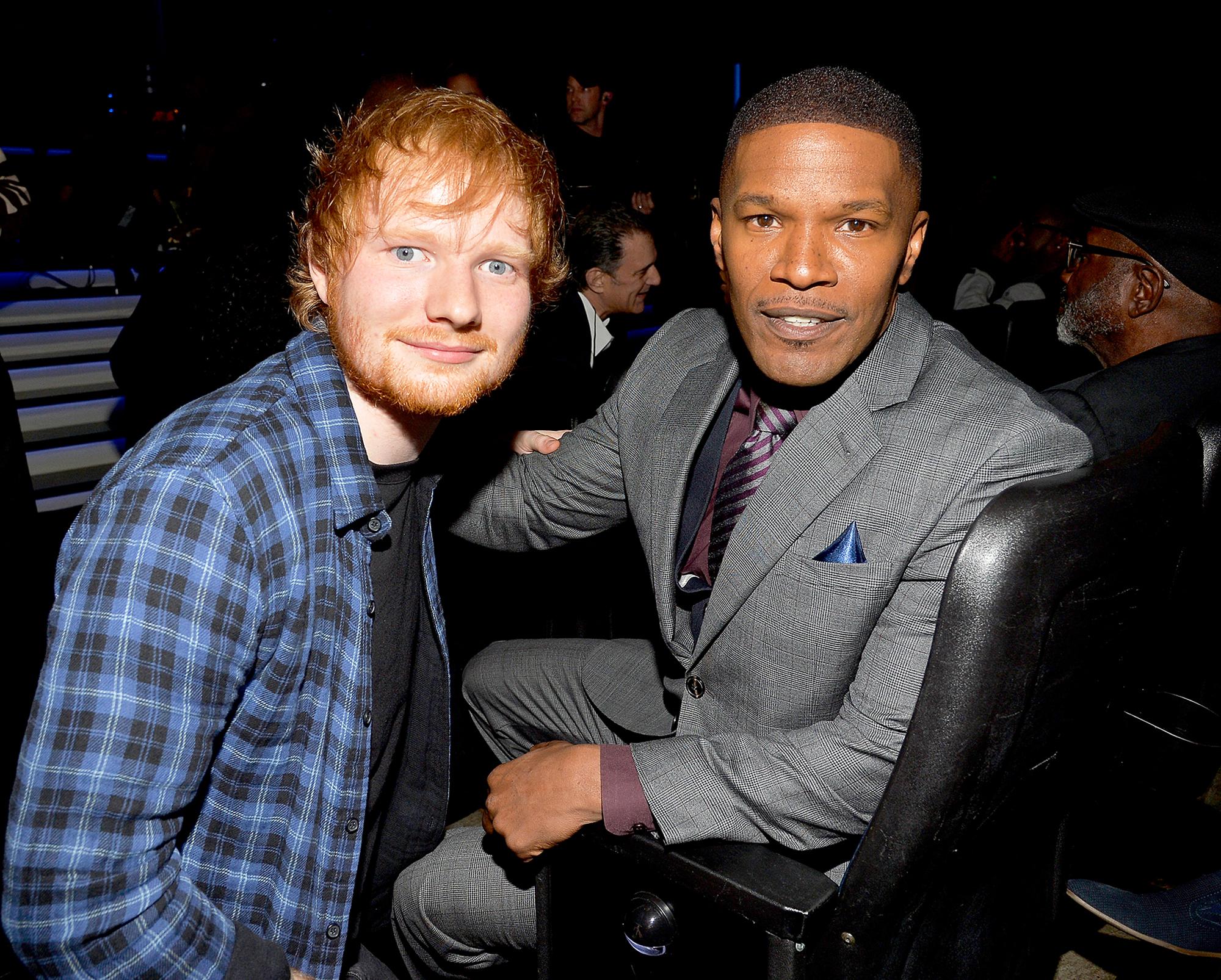 Ed Sheeran and Jamie Foxx