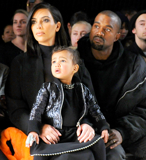 Kim Kardashian, North West and Kanye West