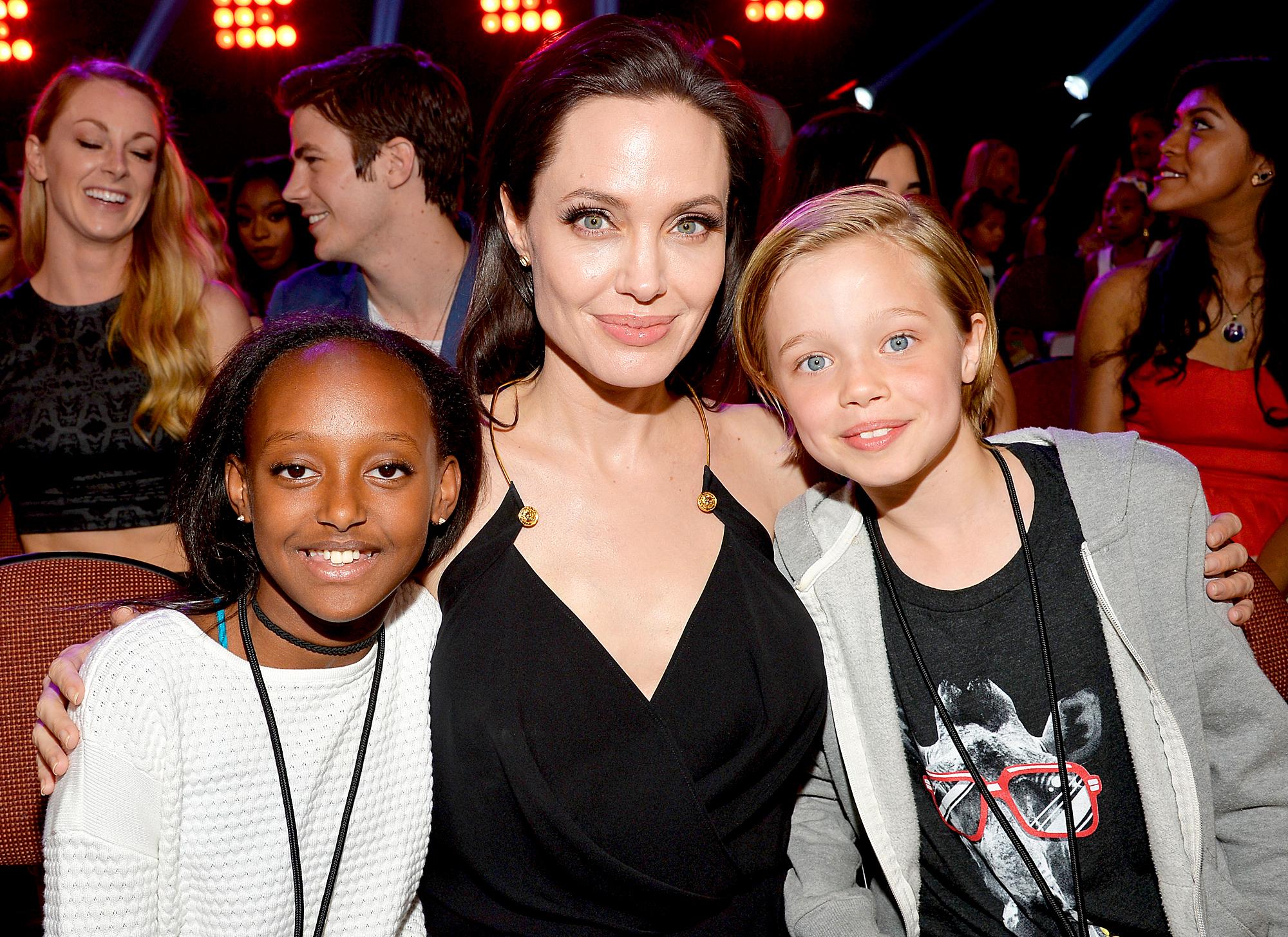 Angelina Jolie, Zahara and Shiloh