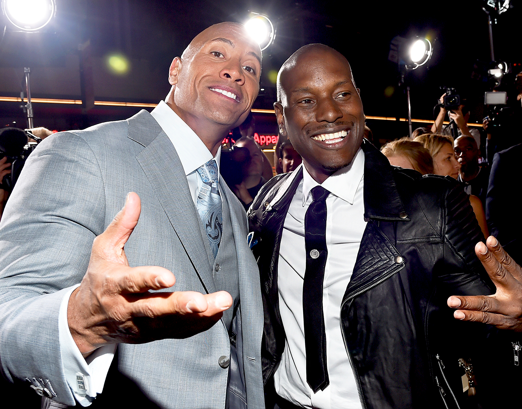 Dwayne 'The Rock' Johnson and Tyrese Gibson