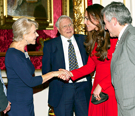 Kate Middleton and Helen Mirren